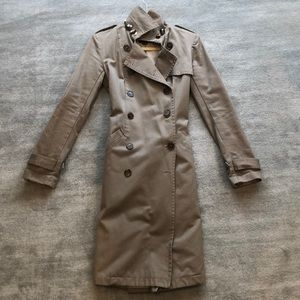Gryphon khaki trench coat size small